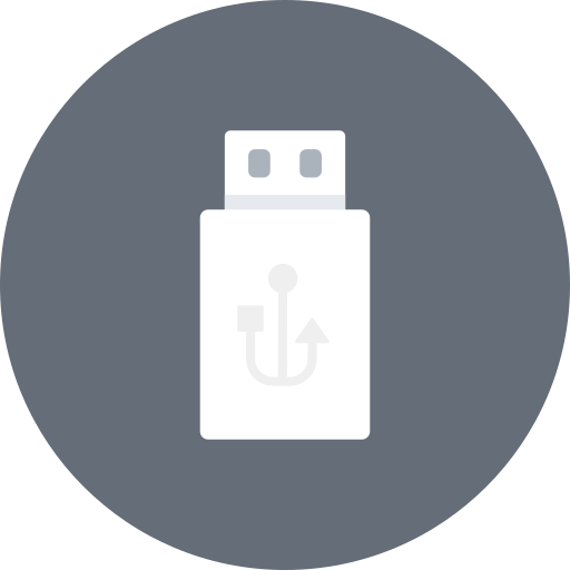 computer, drive, external, flash, hardware, stick, usb icon