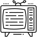 tv, antenna tv, tv set, retro tv, vintage tv icon