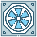 air, cooler, cooling, electric, energy, fan, ventilator icon