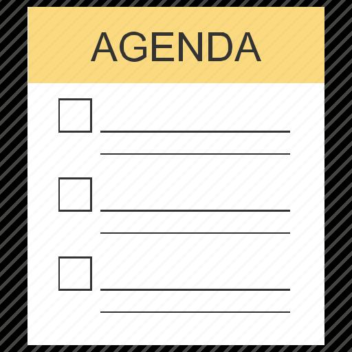agenda, date, promise icon