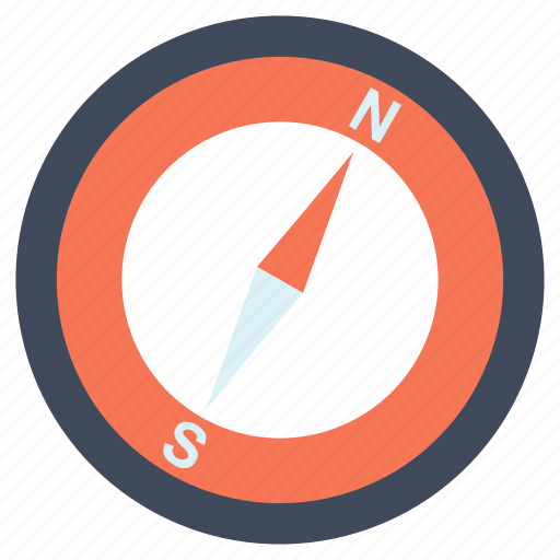 compass, direction, place icon