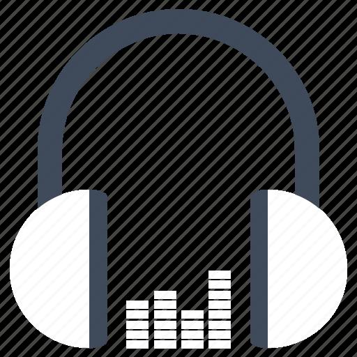 earphone, headset, sound icon
