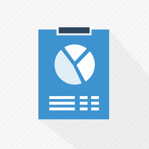 blue, chart, diagram, document, graph, report, technology icon