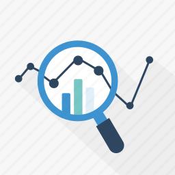 analysis, blue, data, diagram, graph, statistics, technology icon