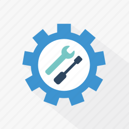 blue, control, customize, preferences, setting, technology, tools icon