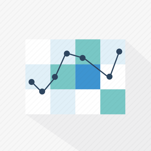 analysis, blue, chart, data, graph, statistics, technology icon
