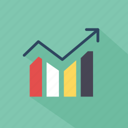 chart, diagram, finance, graph, green, report, technology icon