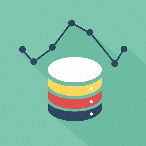 analysis, analytics, database, device, green, storage, technology icon