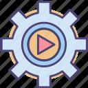 automation, intelligent, technology icon
