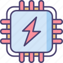 intelligent, processingpower, technology icon