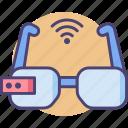 intelligent, smartglasses, technology icon