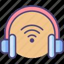 intelligent, technology, wirelessheadset icon