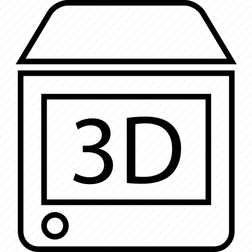 internet, printer, printing, tech, technology, three d printer icon