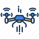 device, drone, flying, quadcopter icon