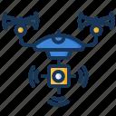 camera, drone, survey, technology