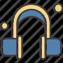 earphone, headphone, headset, music