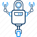 android, machine, robot, robotic, robotics icon