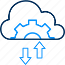 cloud, configuration, network, setting, settings icon