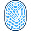 biometric, finger, finger print, fingerprint, thumb icon