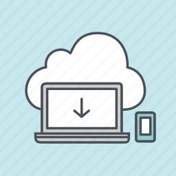 cloud, computer, development, download, internet, responsive, system icon