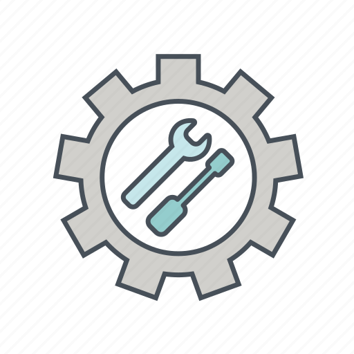 development, gear, install, optimize, setting, spanner, tool icon