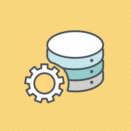 database, development, internet, optimize, server, setting, storage icon