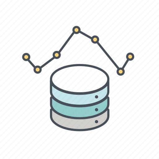 big data, chart, data, graph, statistics, storage, technology icon