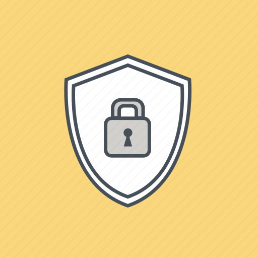 lock, locked, protect, safety, security, shield, technology icon