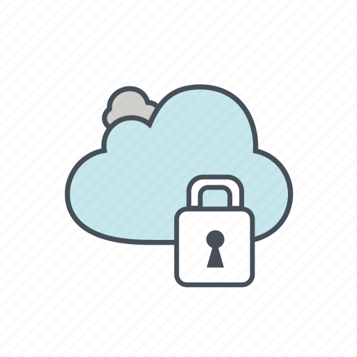 cloud, lock, password, safety, security, technology, web icon