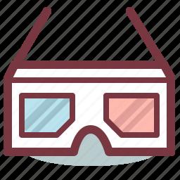cinema, entertainment, film, glasses, media, movie, multimedia icon