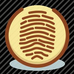 biometric, data, detect, fingerprint, scan icon