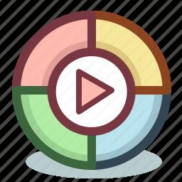 google, media, multimedia, play, player icon