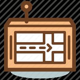 location, map, navigate, navigation, navigator, route icon
