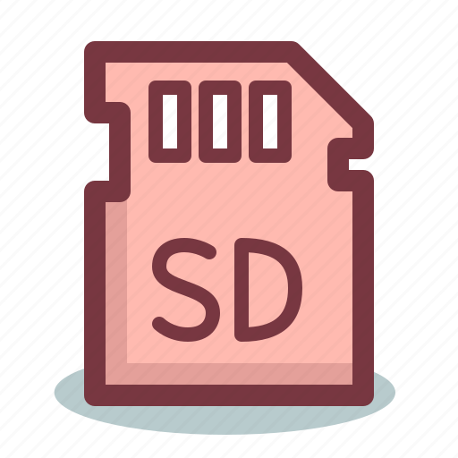 card, drive, flash, memory, sd, storage icon