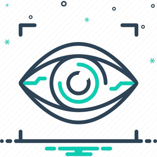 biometrics, bionic contact lens, lenses, reality, retina, virtual, vision icon