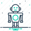 algorithm, application, artifical, automatic, robot, robotic, software icon