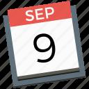 calendar, mobile marketing, seo, technology icon