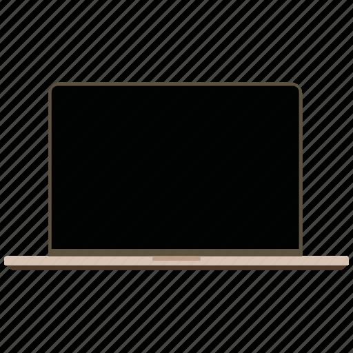 macbook, mobile marketing, seo, technology icon