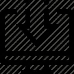 arrow, computer, content, down, download, file icon