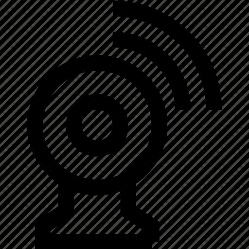 cam, camera, computer, internet, tele conferance, web, web-cam icon