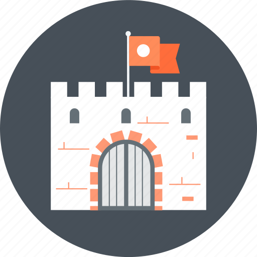 ancient, castle, security icon