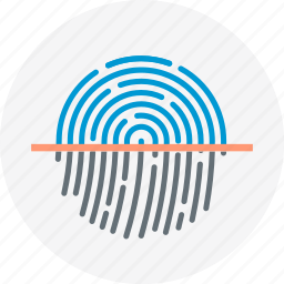 finger print, identity icon
