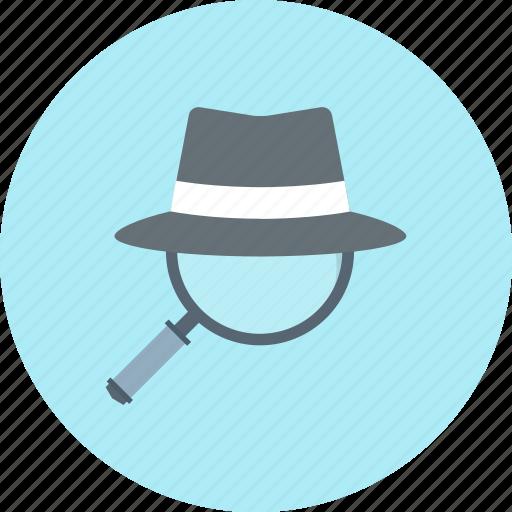 detective, investigate, magnifier, search icon