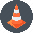 alert, cone, under construction icon