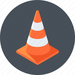 alert, cone, under construction icon
