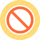 beware, forbidden area, stop icon