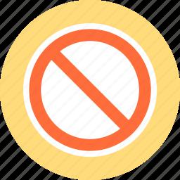 beware, forbidden area, stop icon