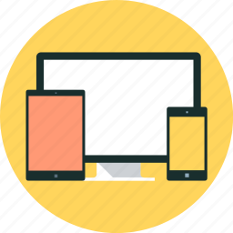 adaptive, dimension, layout, mobile phone, responsive, scale, tablet icon