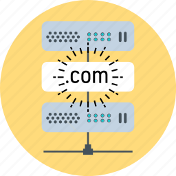 domain name, hosting, server icon