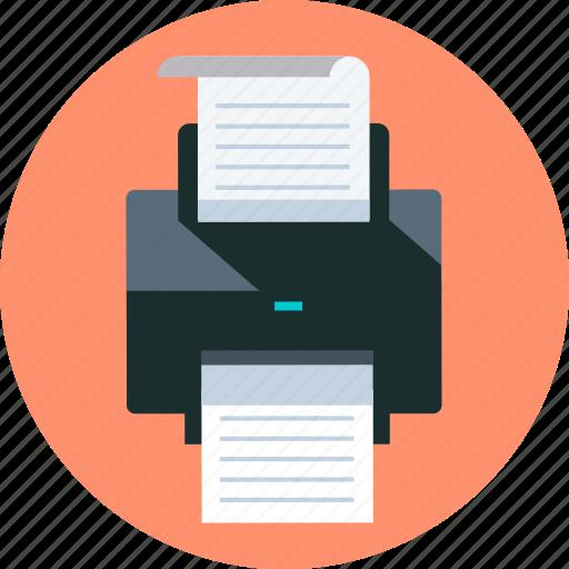 file, print, printer icon